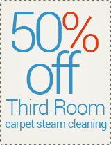 50% OFF - Third Room Carpet Steam Cleaning